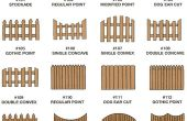 Ajouter le talent à votre jardin avec une clôture en bois fabuleuse