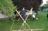 Simple pionnière - construire un pont de singe de poteaux de bois
