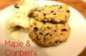 Érable et biscuits d'avoine aux canneberges