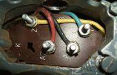 Câblage par un moteur monophasé tour de Brooke Crompton (tour Myford)