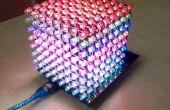 Cube de RVB Led utilisation 8 x 8 x 8 avec Arduino