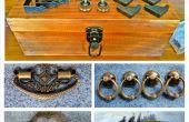 Coffre à pêche en bois Vintage
