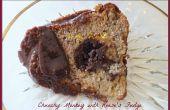Chunky Monkey Bundt cake ganache de Reese Fudge Tunnel &