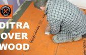Installer le DITRA sur un sous-plancher de bois (arrêt carrelage fissuré)