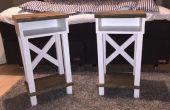 Table de chevet avec chevalet