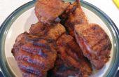 Poulet frit sur le Grill