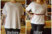 Transformer une chemise ample en un incontournable de la mode