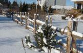 Diviser la clôture - clôture pays ou Split clôture en cèdre Rail - Guide pour le construire