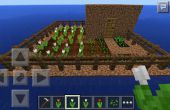 Maison et jardin de Minecraft