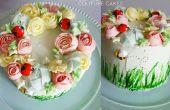 Gâteau de guirlande de fleurs de mai