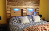 Tête de lit palette avec des lumières