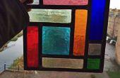 Panneau de verre cubisme