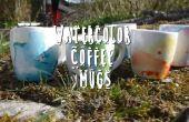 Tasses à café aquarelles bricolage