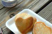 Joli coeur farci petits pains | Brioches à la noix de coco