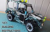 K ' NEX 4x4 w / suspension de travail & steer [HD Building Instr]