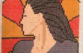 Farscape Cross Stitch : Art Nouveau Aeryn Sun