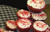Cupcakes de velours rouge