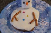 Cookie de bonhomme de neige fondante