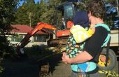 Comment porter votre enfant en bas âge/bambin plus âgé dans un enfant en bas âge de Tula ou autre transporteur transporteur structuré doux (SSC) ou boucle (Report en avant)