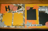 Mise en page de SCRAPBOOK basket-ball