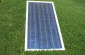 À l'aide de cellules solaires, pour faire le verre cadre bricolage panneau solaire
