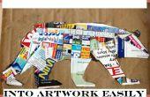Transformer un vieux Magazine en oeuvre facilement !