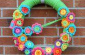 Crochet fleur couronne !