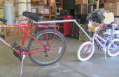 Échec de la tentative à une barre de remorquage pour vélo enfant