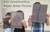 Papier de bricolage bricolage estampes solaire