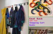 Portemanteau fabriqués à partir de Shopping Cart crochets
