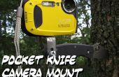 Monture de caméra de couteau de poche