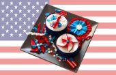 4 juillet Fête de l'indépendance Cupcake Toppers