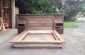 Casse tête de lit bois et lit plate-forme