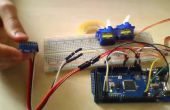 Servo commande via Bluetooth avec l'accéléromètre