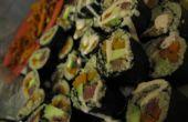 Avocat de patate douce de quinoa + autruche Sushi.