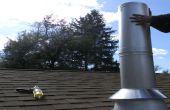 Installation du tuyau cheminée à bois poêle à travers un plafond plat