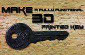 Comment faire un 3D imprimés clé (TUTORIAL complet)
