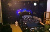 Station spatiale Dock chambre avec lit de vaisseau spatial de Light-up