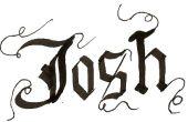 Comment écrire en calligraphie gothique