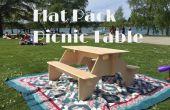 Table de pique-nique de Flat-Pack de 1 planche de contreplaqué