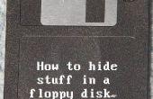 Comment cacher des choses dans une disquette