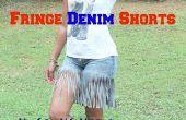 Comment faire la frange Denim Short avec des vieux Jeans