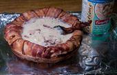 Faire un bol de soupe de Bacon