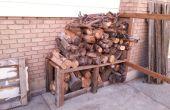 Poteau de clôture Woodpile