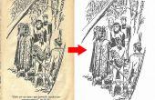 Illustration noir du papier jaune a un livre blanc (moyen facile)