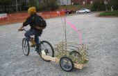Simple de bois et de bambou Bike Trailer
