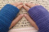 Mitaines fingerless crochet
