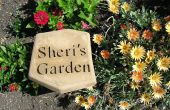 Personalized jardin Stepping Stones