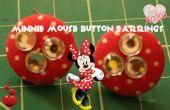 Minnie Mouse inspiré les boucles d'oreilles bouton