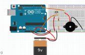 Capteur de lumière de l'Arduino et alarme